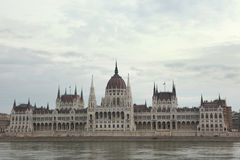 Hungarian Parliament in Budapest, Hungary. Stock Photos