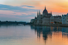 Hungarian Parliament - Budapest - Hungary Royalty Free Stock Photo
