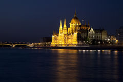The Hungarian Parliament Royalty Free Stock Photography