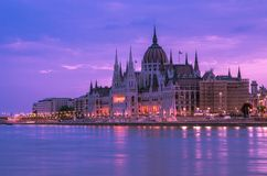 Hungarian Parliament, Budapest stock image