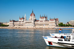 Hungarian Parliament Building. Royalty Free Stock Photo