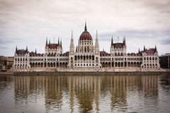 Hungarian Parliament Building. Parliament Building along the Danube in Budapest, Hungary Stock Image