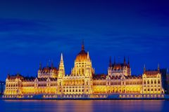 The Hungarian Parliament Building, also known as the Parliament of Budapest. Stock Photos