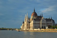 Hungarian Parliament Building from the side, Budapest, Hungary stock photography