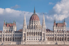 Hungarian Parliament Building on the bank of the Danube in Budapest Stock Photography