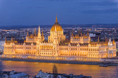 Hungarian parliament building from Buda Stock Photo