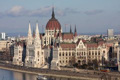 Hungarian parliament building, Budapest Royalty Free Stock Photos