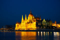 Hungarian Parliament building in Budapest Royalty Free Stock Photo