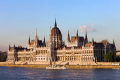 Hungarian Parliament Building in Budapest Stock Images