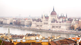 The Hungarian Parliament Building in Budapest Stock Photos