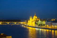 Hungarian Parliament building in Budapest Royalty Free Stock Photos