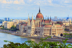 Hungarian Parliament. Building in Budapest Royalty Free Stock Photography