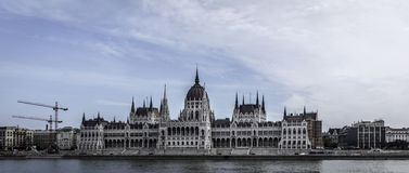 Hungarian Parliament. The Hungarian Parliament building in Budapest Royalty Free Stock Images