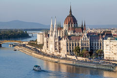 Hungarian parliament building. In Budapest royalty free stock photos
