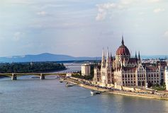 Hungarian Parliament building in Budapest. Royalty Free Stock Image