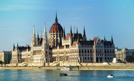 Hungarian Parliament Building in Budapest at Danube. Hungary Stock Image