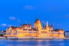 Hungarian Parliament Building in Budapest Royalty Free Stock Image