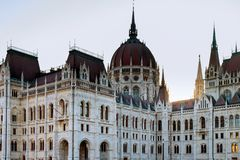The Hungarian Parliament Building in Budapest. The Hungarian Parliament building panoramic view, capital in Budapest Hungary, city, architecture, landmark stock image