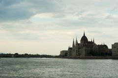 Hungarian Parliament and Danube river in Budapest Stock Image