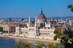 Hungarian Parliament Building Stock Image