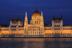 Hungarian Parliament Building. In Budapest, Hungary royalty free stock image