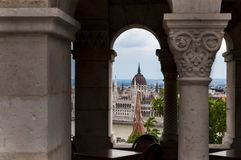 Hungarian Parliament Building. Budapest, Hungary. Hungarian Parliament Building as seen from Fisherman`s Bastion stock images