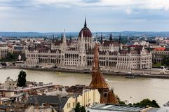 Hungarian Parliament Building. Budapest, Hungary. Hungarian Parliament Building as seen from Fisherman`s Bastion stock photography