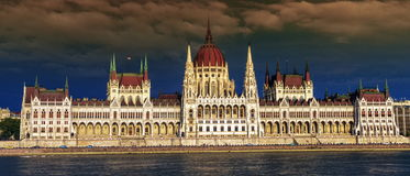 Hungarian Parliament Building in Budapest, Hungary Royalty Free Stock Photography