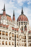 Hungarian parliament building in Budapest, Hungary, detail scene Stock Image