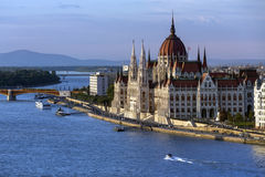 Hungarian Parliament Building - Budapest - Hungary Royalty Free Stock Image
