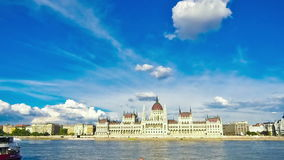 Hungarian Parliament Building in Budapest, Hungary stock video