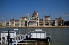 Hungarian parliament building, Budapest, Hungary Stock Image