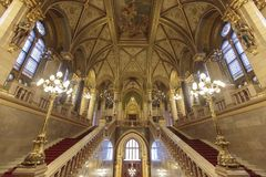 Hungarian Parliament Building in Budapest. Interior of  Hungarian Parliament Building in Budapest Royalty Free Stock Image
