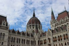 Hungarian Parliament Building in Budapest stock image