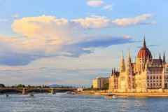 Hungarian Parliament Building in Budapest Royalty Free Stock Photography