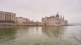 Hungarian Parliament building in city Budapest. Royalty Free Stock Photography