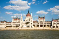 Hungarian Parliament Building from the Danube Stock Photography