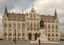 Free Hungarian Parliament Building From South End Of Kossuth Square, Budapest, Hungary Royalty Free Stock Photos - 135742648