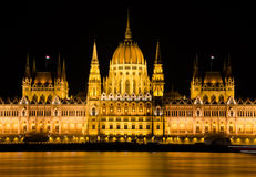 Hungarian parliament in Budapest, Hungary Royalty Free Stock Images