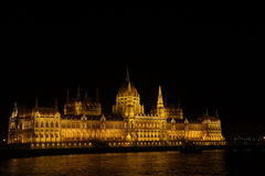 Hungarian parliament building at night Stock Photos