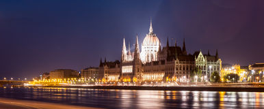 Hungarian Parliament Building During Nighttime Royalty Free Stock Image
