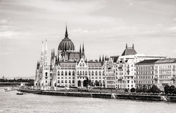 Hungarian parliament building - Orszaghaz and Danube river in Bu Stock Photography