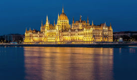 The Hungarian Parliament. The building of the Hungarian Parliament is the residence of the Hungarian Parliament on the banks of the Danube in Budapest. In its Royalty Free Stock Photography