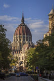 The Hungarian Parliament building. A street view in Budapest Stock Image