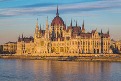 Hungarian Parliament building at Sunset Royalty Free Stock Photo