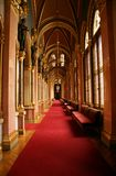 Hungarian parliament corridor Royalty Free Stock Photos