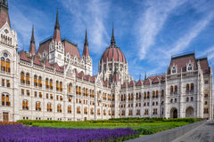 The Hungarian Parliament. On the Danube River in Budapest Stock Photos