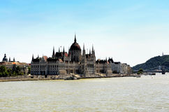 Hungarian Parliament and Danube river, Budapest Stock Image