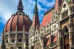 Hungarian parliament detail Stock Photo
