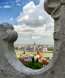 Hungarian parliament from Fishermans bastion in Budapest Royalty Free Stock Image
